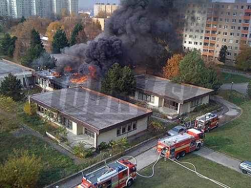 Požiar v škole na