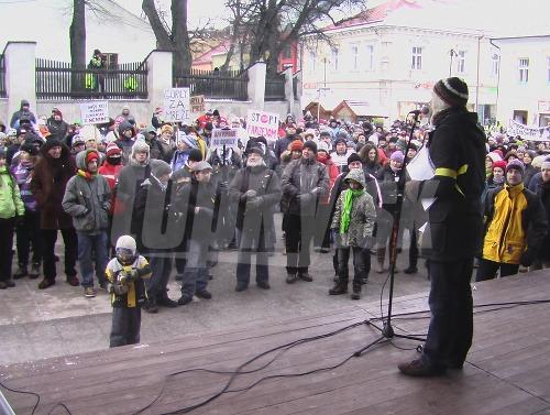 Gorila protest - Poprad