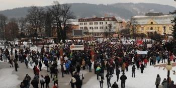 Žilina protest Gorila dva