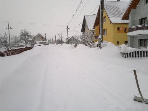Kysucky Lieskovec pod snehom