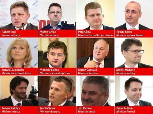 Zoznam ministrov novej Ficovej