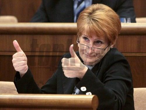 Podpredsedníčka parlamentu Jana Laššáková