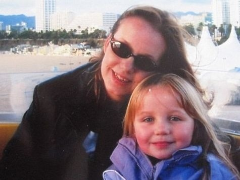 Astra so svojou dcérkou
