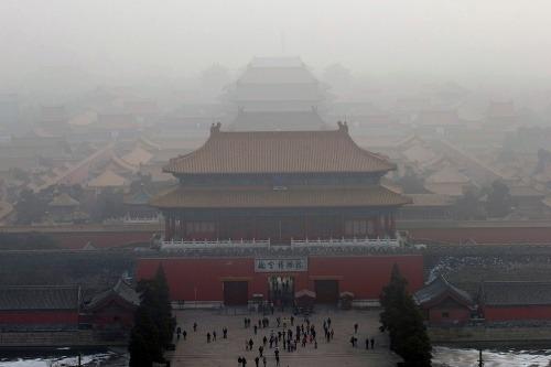 Hustý smog v Pekingu