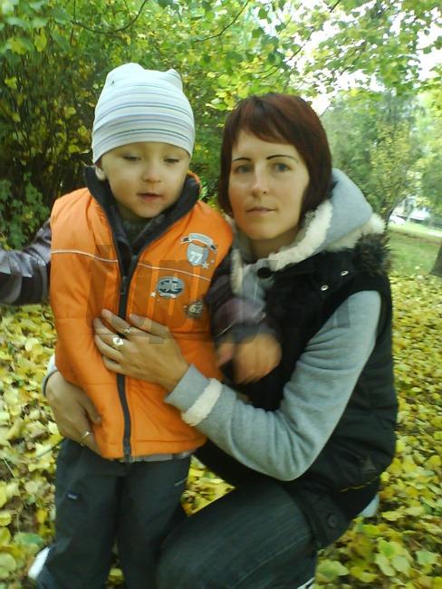 Mamička Soňa s malým