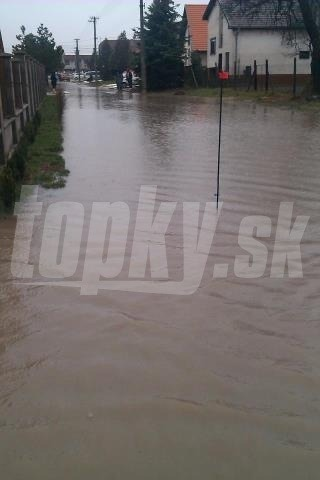 Povodeň, Horné Saliby neďaleko
