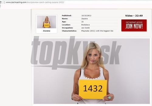 Zuzana Plačková absolvovala porno