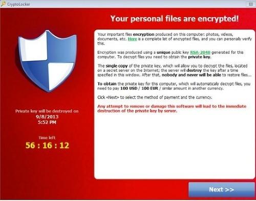 CryptoLocker, počítačový vírus z