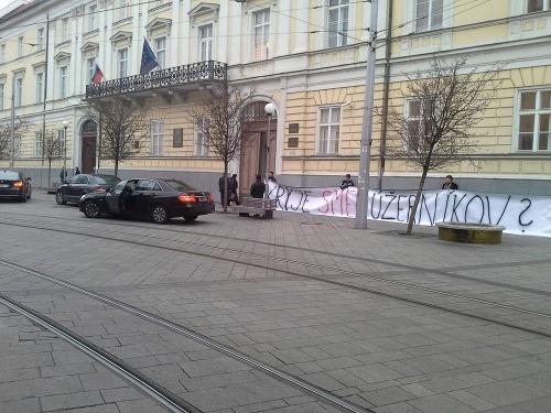 Poslanec Hlina demonštroval pred
