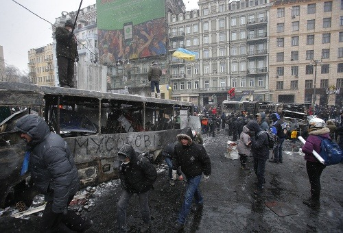Protesty v Kyjeve si