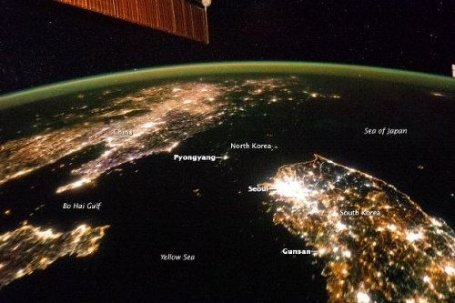 Severná Kórea je čierna