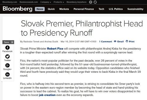 Svetová tlač hodnotí slovenské