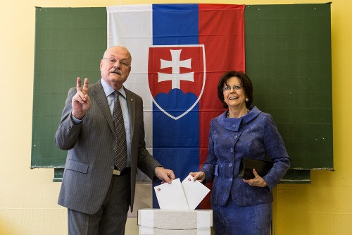 Ivan Gašparovič s manželkou