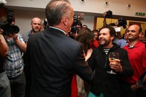 Oslava z volebného štábu