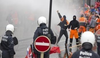 Protesty v Bruseli