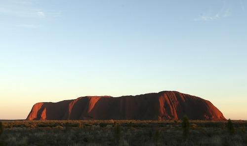 Východ slnka pri Uluru