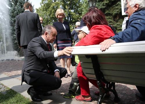 Andrej Kiska na návšteve