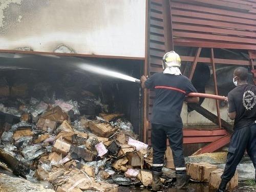 Požiar skladu s liekmi