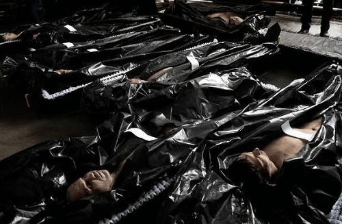 Telá mŕtvych ruských dobrovoľníkov
