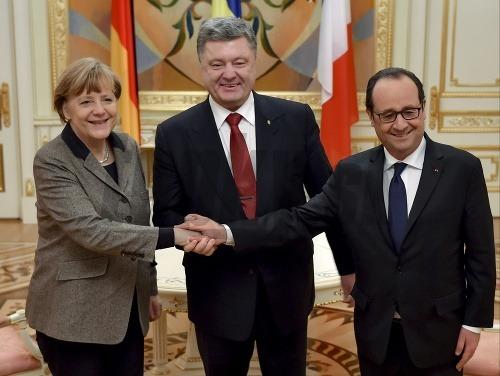 Angela Merkelová a Francois