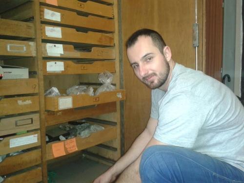 Paleontológ Tomáš Čeklovský