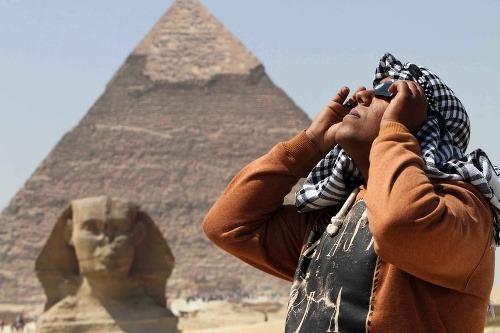 Čiastočné zatmenie v Káhire
