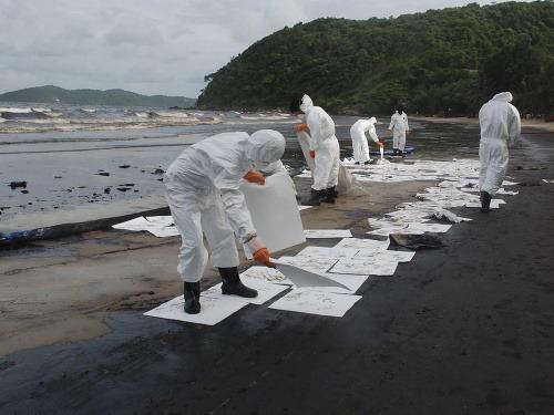 Odstraňovanie ropného znečistenia