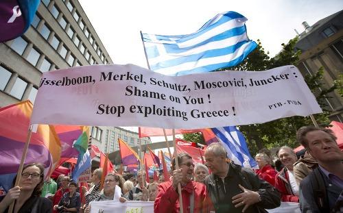 Protest v Grécko