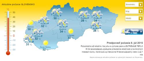 Na Slovensko sa valí