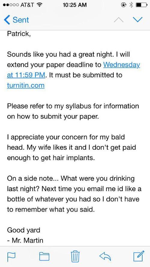 4d27df08d Opitý študent napísal učiteľovi brutálny e-mail: Dostal odpoveď, po ktorej  hneď vytriezvel – galéria   Topky.sk - Bleskovky