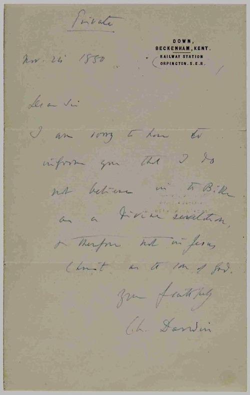 Kontroverzné priznanie Charlesa Darwina