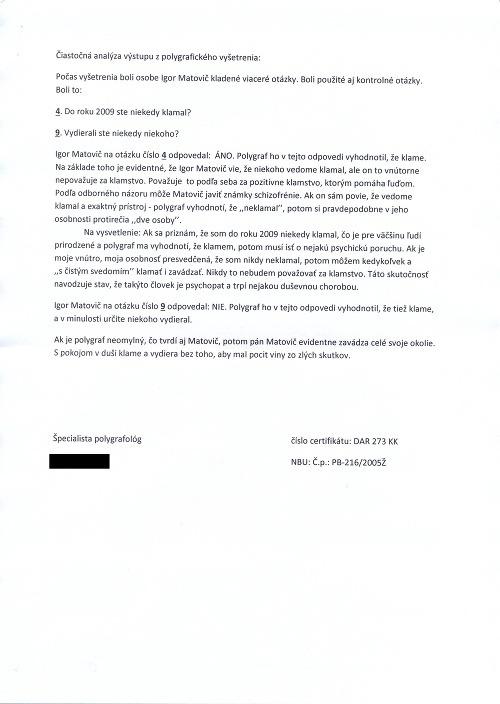 Unikla kompletná správa o