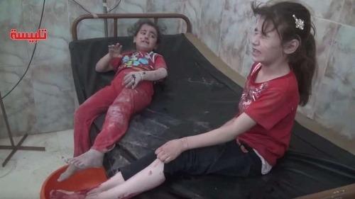 Zranené dievčatá v Sýrii