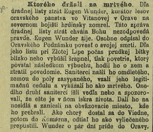 Noviny pred 100 rokmi