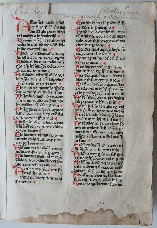 NIDER, Johannes. 1464. Praeceptorium