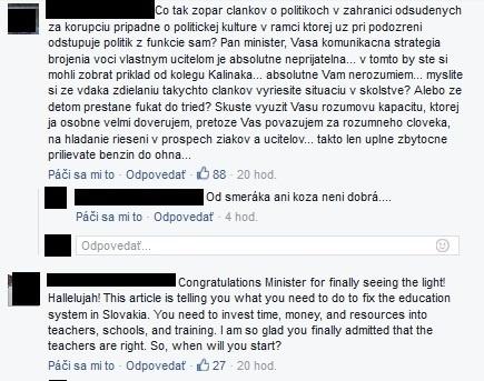 Minister školstva si poriadne
