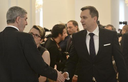 Béla Bugár (vľavo) a