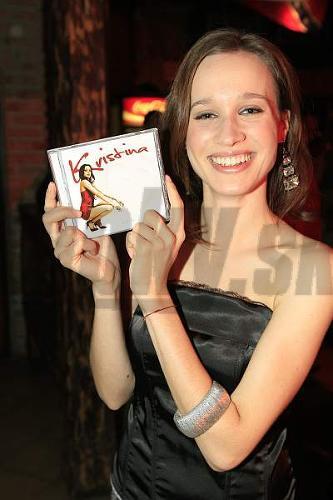 Kristína so svojím CD.