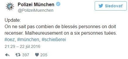Mníchovská polícia potvrdila šesť