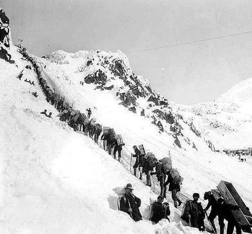Chilkootský priesmyk, 1898