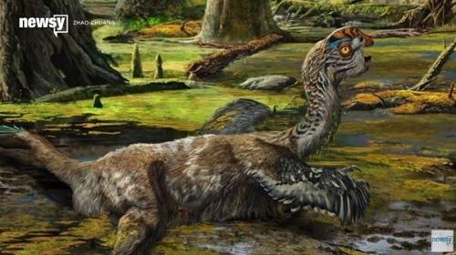 Umelcovo zobrazenie nájdeného dinosaura