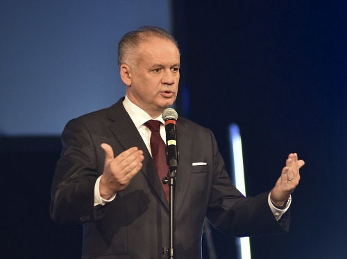 Na snímke prezident Andrej