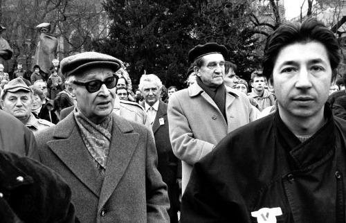 Ján Budaj (vpravo) a