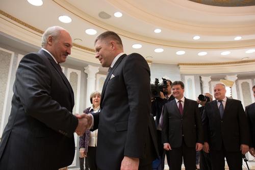 Alexander Lukašenko a Robert