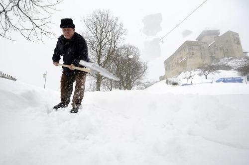 Sneh na Trenčianskom hrade