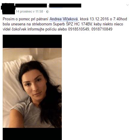 Dohra prípadu zmiznutej mamičky