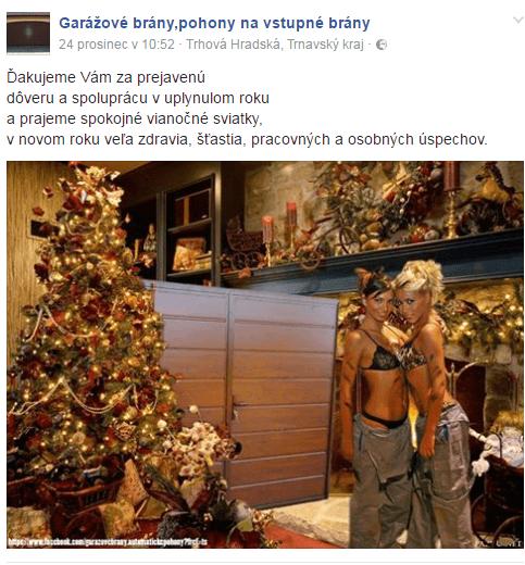 Vianočná reklama na FOTO