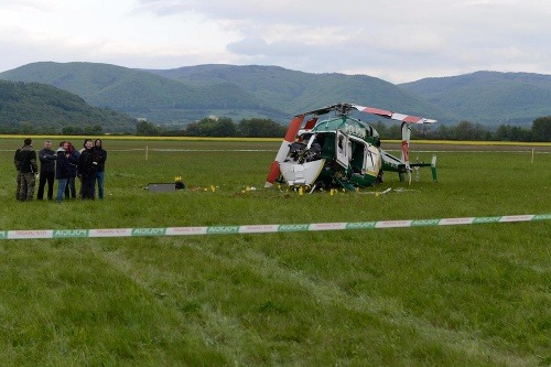 MIMORIADNA SPRÁVA Pád vrtuľníka
