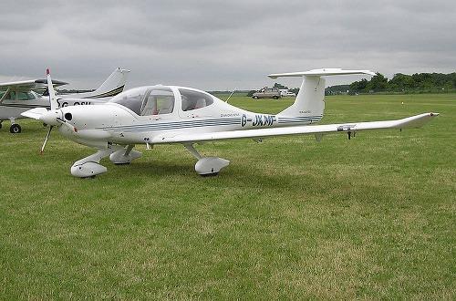 Lietadlo DA-40 váži vyše