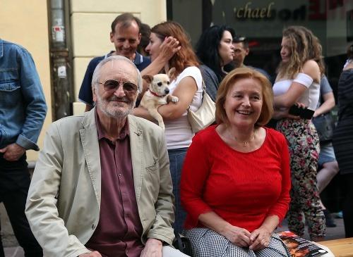 Milan Lasica s manželkou
